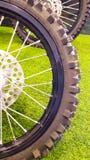 Motorcycle wheel Stock Photo