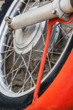Motorcycle wheel Stock Images