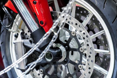Motorcycle wheel close-up Royalty Free Stock Photography