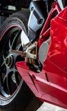 Motorcycle wheel. Close up photo royalty free stock photo