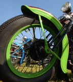 Motorcycle wheel closeup Royalty Free Stock Images