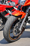 Motorcycle wheel Royalty Free Stock Image