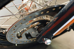 Motorcycle wheel closeup Royalty Free Stock Photography