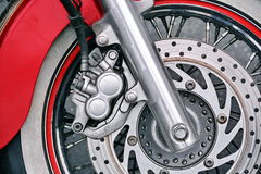 Motorcycle Wheel Detail Stock Image