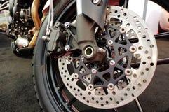 Motorcycle - wheel detail Royalty Free Stock Image