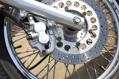 Motorcycle wheel details Royalty Free Stock Photo