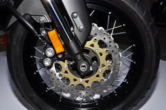 Motorcycle wheel with disc brake. Stock Images