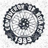 Motorcycle wheel emblem Stock Images