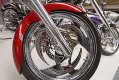 Motorcycle wheel. Image of motorcycle wheel details with brake and wheel spoke taken in london, england royalty free stock images
