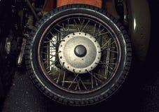 Motorcycle wheel. Stock Photos