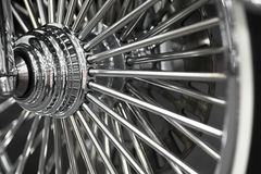 Motorcycle wheel spokes Stock Photography