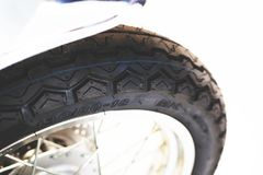 Motorcycle Wheel, motorbik. Motorcycle Wheel vintage, motorbike, tire black tyre Stock Images