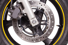 Motorcycle wheel Stock Photography