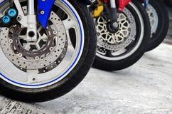 Motorcycle Wheels Stock Photo