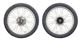 Motorcycle wheels. Isolated on white background Royalty Free Stock Photography