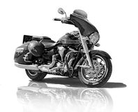 Motorcycle on white background Stock Images