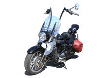 Motorcycle on white background Stock Photography