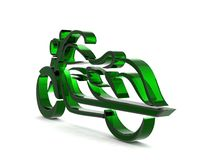 Motorcycle on a white background 3D rendered Illustration. Isolated on white Royalty Free Stock Images