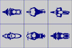 Free Motorcycle With Riders Top View Icon Set Royalty Free Stock Photography - 74687007
