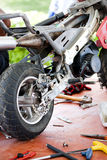 Motorcycle Workshop Stock Photo