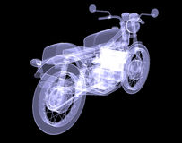 Motorcycle. X-Ray Royalty Free Stock Image