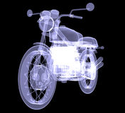 Motorcycle. X-Ray Stock Photos