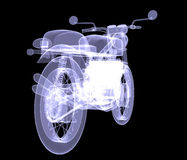 Motorcycle. X-Ray Stock Photo
