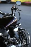 Motorcycle Yamaha XV1700PC Road Star Warrior. Back and right view close-up stock photo