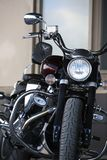 Motorcycle Yamaha XV1700PC Road Star Warrior. Front view closeup royalty free stock photo