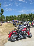 Motorcycle yard sale Stock Photos