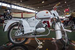 Motorcycle Zuendapp Sport Combinette (Typ 515-004), 1964. STUTTGART, GERMANY - MARCH 18, 2016: Motorcycle Zuendapp Sport Combinette (Typ 515-004), 1964. Europe' Royalty Free Stock Image