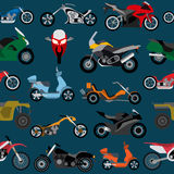 Motorcycles background, seamless Royalty Free Stock Photography