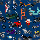 Motorcycles background, seamless Stock Photos