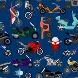 Motorcycles background, seamless. Vector illustration stock illustration
