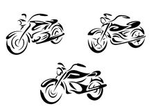 Motorcycles and bikes Royalty Free Stock Photography