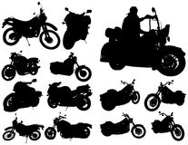 Motorcycles in different positions. Royalty Free Stock Image