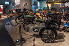 Motorcycles at the exhibition in the King Abdullah II car museum in Amman, the capital of Jordan. Amman, Jordan, December 07, 2018 : Motorcycles at the royalty free stock photography