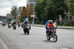 Motorcycles with flags Stock Image
