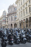 Motorcycles in Genova Stock Photography