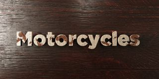 Motorcycles - grungy wooden headline on Maple  - 3D rendered royalty free stock image Royalty Free Stock Image