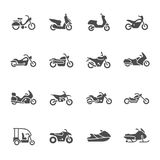 Motorcycles icon set Royalty Free Stock Photography