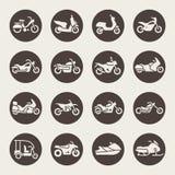 Motorcycles icon set Royalty Free Stock Photo
