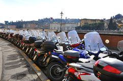 Motorcycles in Italy Stock Photography