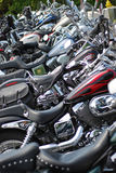 Motorcycles in a line Royalty Free Stock Image