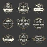 Motorcycles logos templates vector design elements set Royalty Free Stock Photos