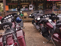 Motorcycles in Madrid New Mexico USA Royalty Free Stock Photo