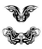Motorcycles mascots with tribal Stock Image