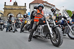 Motorcycles meeting and mass ride Stock Images