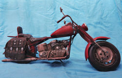 Motorcycles model. Metal model of historical motorcycles Stock Images