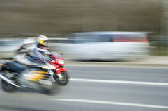 Motorcycles in motion Royalty Free Stock Image
